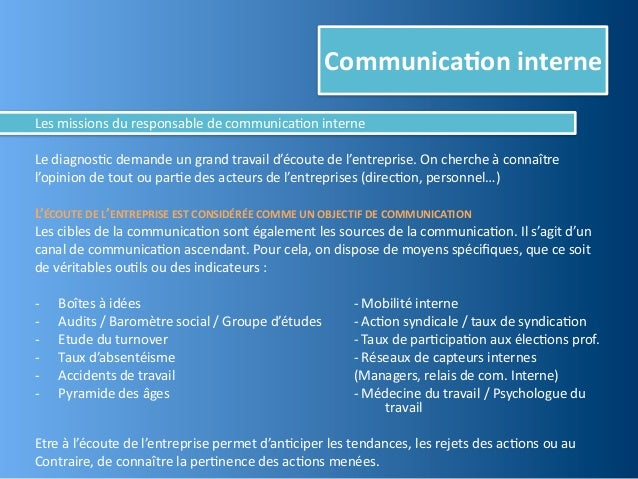 Communica,on interneLes missions du responsable de communica@on interneLe diagnos@c demande un grand...