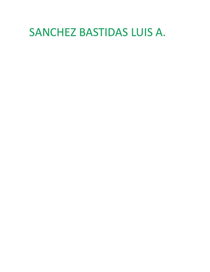 SANCHEZ BASTIDAS LUIS A.