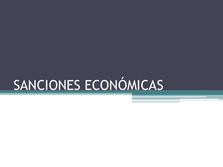 SANCIONES ECONÓMICAS<br />