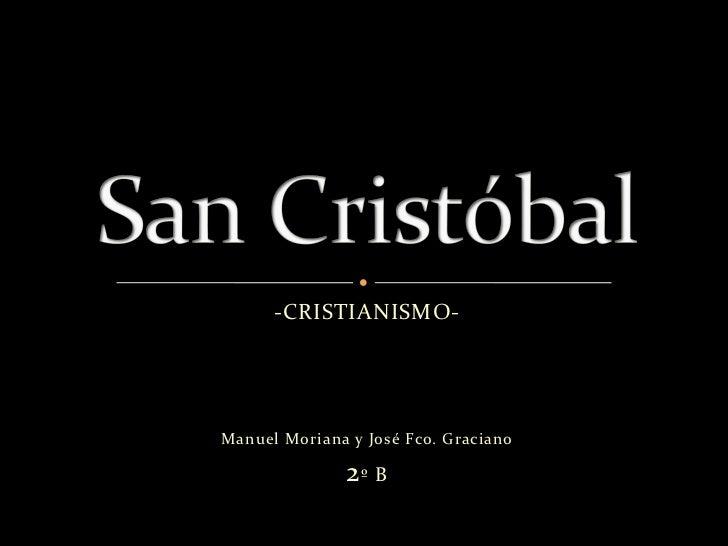 -CRISTIANISMO-Manuel Moriana y José Fco. Graciano               2º B