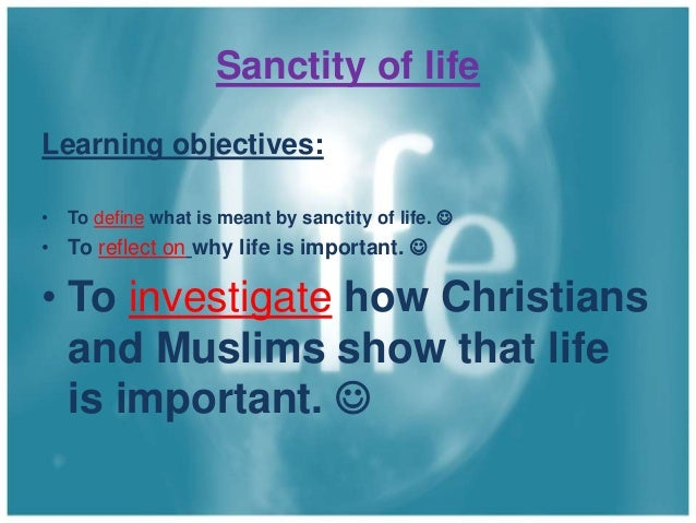"""the christian belief in the sanctity of life Christian opposition to suicide, largely derived from """"never murder"""" was a stand against culture and a defense of the sanctity of human life for centuries, christianity's opposition to suicide influenced western nations to outlaw suicide and to punish those who attempted it."""