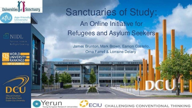 James Brunton, Mark Brown, Eamon Costello, Orna Farrell & Lorraine Delany Sanctuaries of Study: An Online Initiative for R...