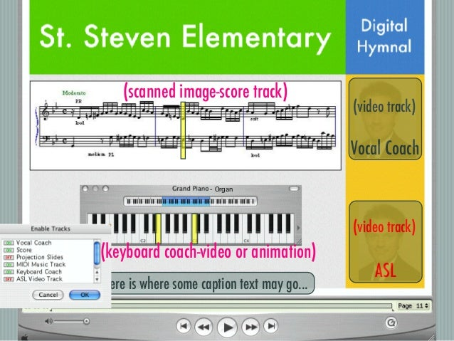 Digital Hymnals: Exploring the Capabilities of QuickTime Pro