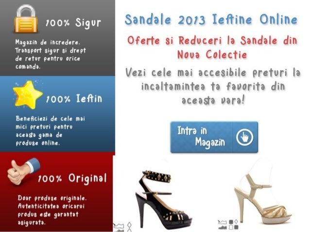 Sandale 2013 Ieftine Online