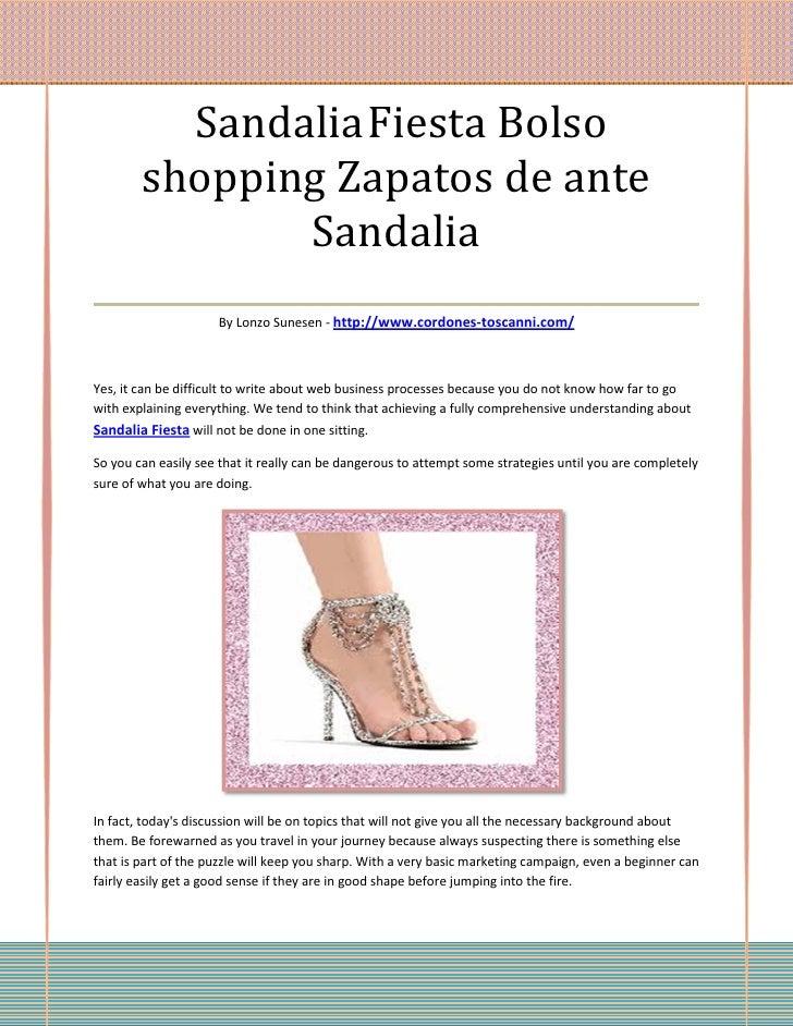 Sandalia Fiesta Bolso   shopping Zapatos de ante             Sandalia___________________________________                  ...