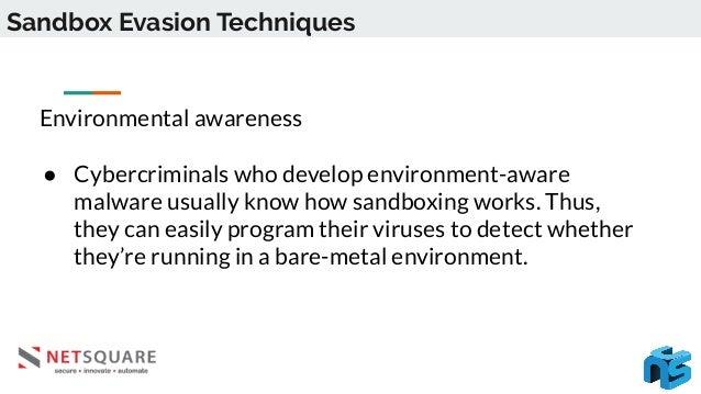 Sandbox Evasion Techniques