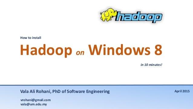Hadoop on Windows 8