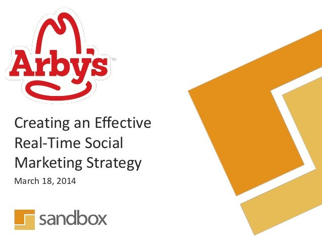 Creating an Effective Real-Time Social Marketing Strategy March 18, 2014