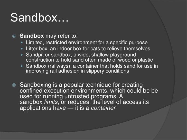 Sandbox – Online, Offline Slide 2