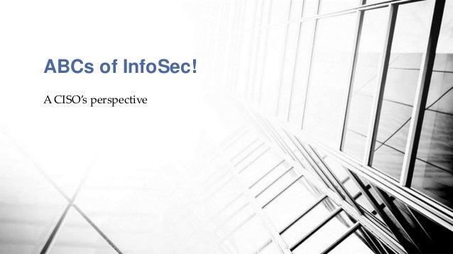 ABC of Infosec Slide 2