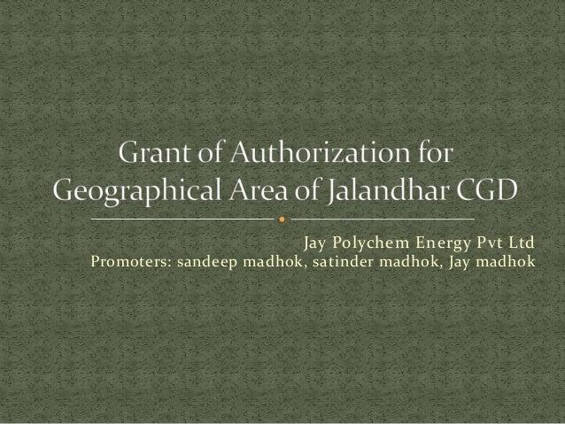 Jay Polychem Energy Pvt Ltd Promoters: sandeep madhok, satinder madhok, Jay madhok