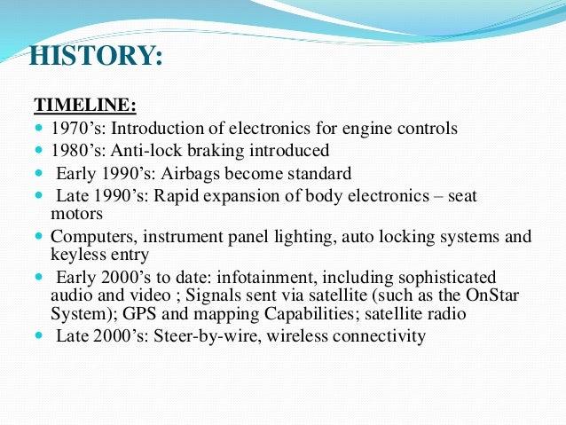 Automotive electronics systems by ravikumar chilmula.