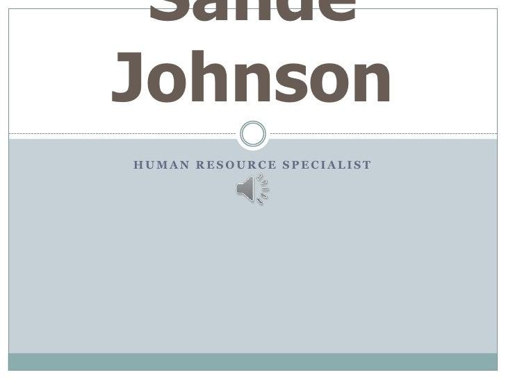 Sande Johnson Power Point Resume Presentation With Music