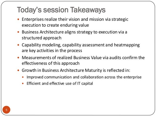 Creating Enterprise Value from Business Architecture Slide 2