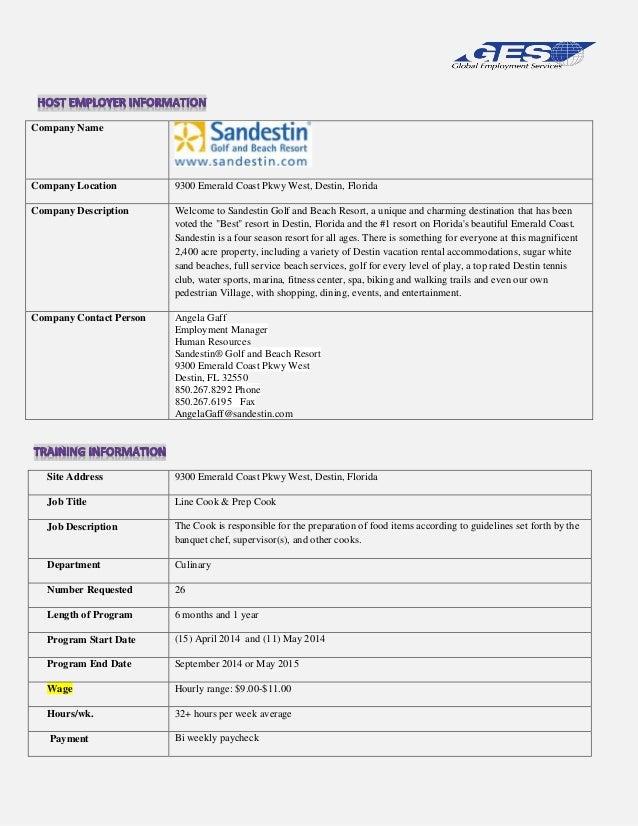 Company Name  Company Location  9300 Emerald Coast Pkwy West, Destin, Florida  Company Description  Welcome to Sandestin G...