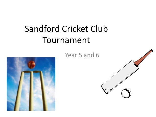 Sandford Cricket Club Tournament Year 5 and 6