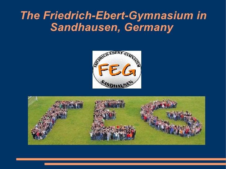 The Friedrich-Ebert-Gymnasium in Sandhausen, Germany