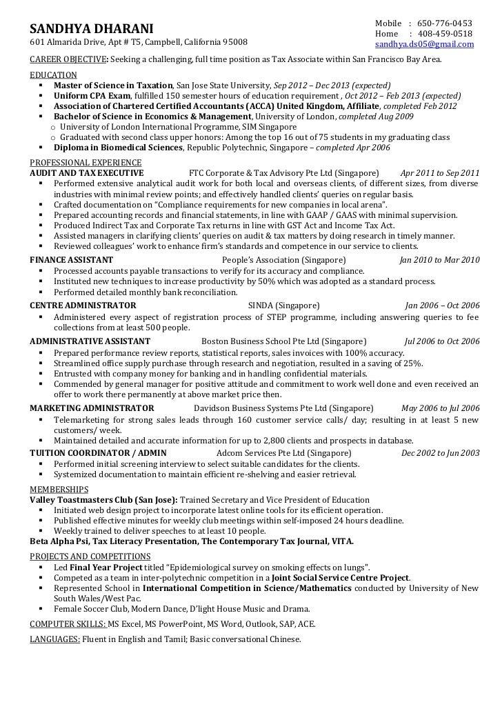 summary associate of chartered accountant