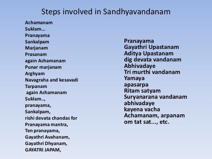 Telugu pdf sandhyavandanam