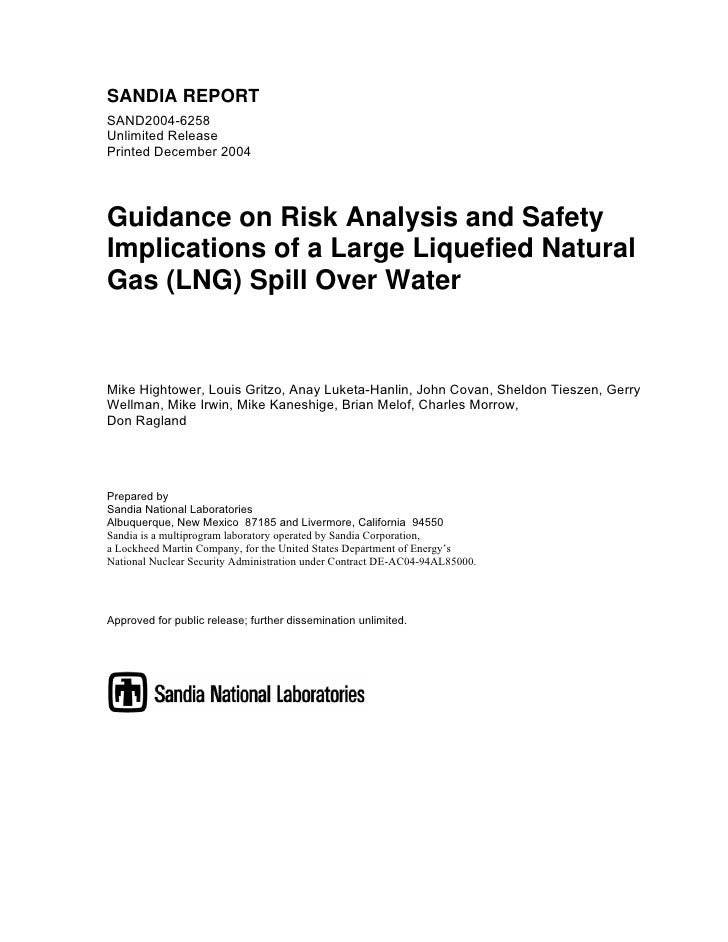 SANDIA REPORTSAND2004-6258Unlimited ReleasePrinted December 2004Guidance on Risk Analysis and SafetyImplications of a Larg...