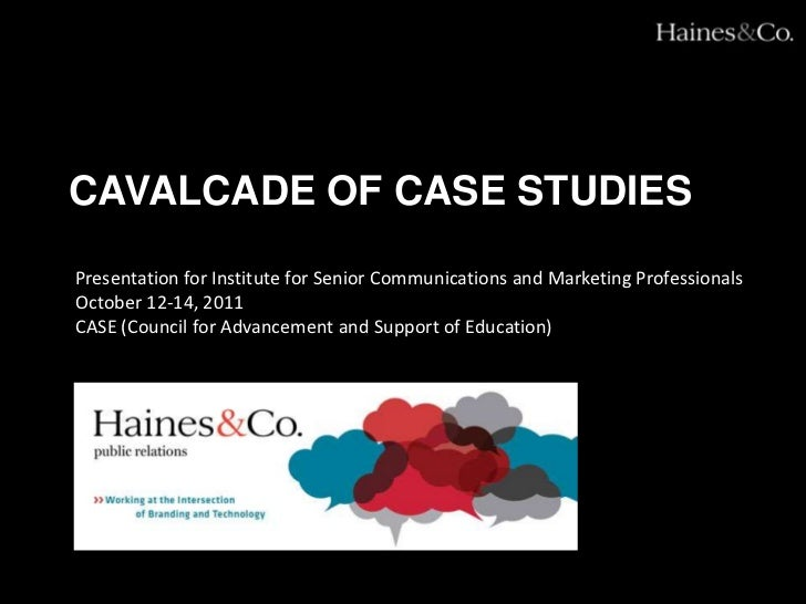 Cavalcade of case studies<br />Presentation for Institute for Senior Communications and Marketing Professionals<br />Octob...
