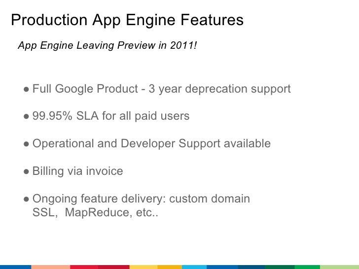 google app engine s latest features