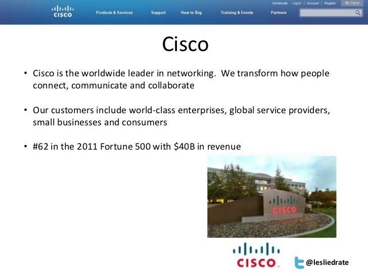 Accelerator | San Diego | Feb 9, 2012| #SESAcc                                 Cisco• Cisco is the worldwide leader in net...