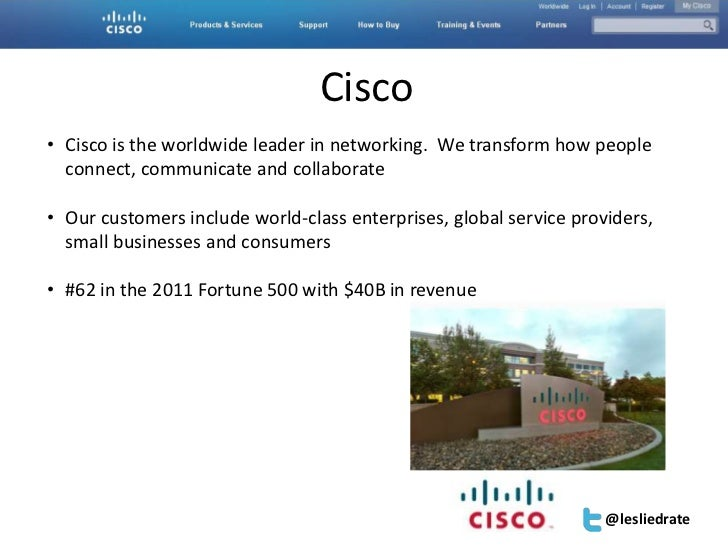 Accelerator | San Diego | Feb 9, 2012| #SESAcc                                 Cisco• Cisco is the worldwide leader in net...