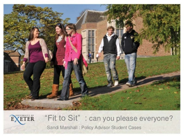 """""""Fit to Sit"""" : can you please everyone?Sandi Marshall : Policy Advisor Student Cases"""