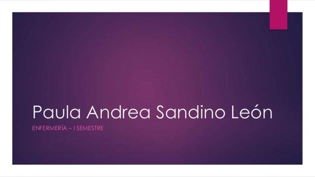 Paula Andrea Sandino León ENFERMERÍA – I SEMESTRE
