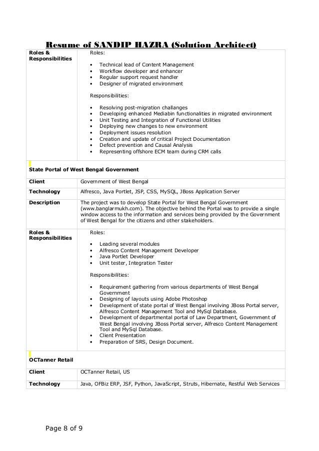 resume for server