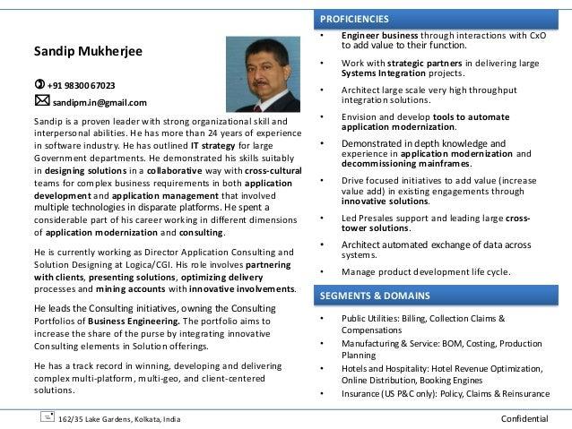 PROFICIENCIES                                                                    •   Engineer business through interaction...
