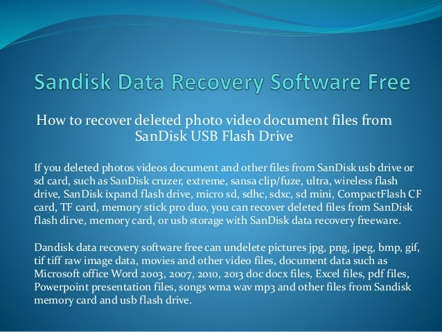 How to Recover Deleted Files from Flash Drive Without