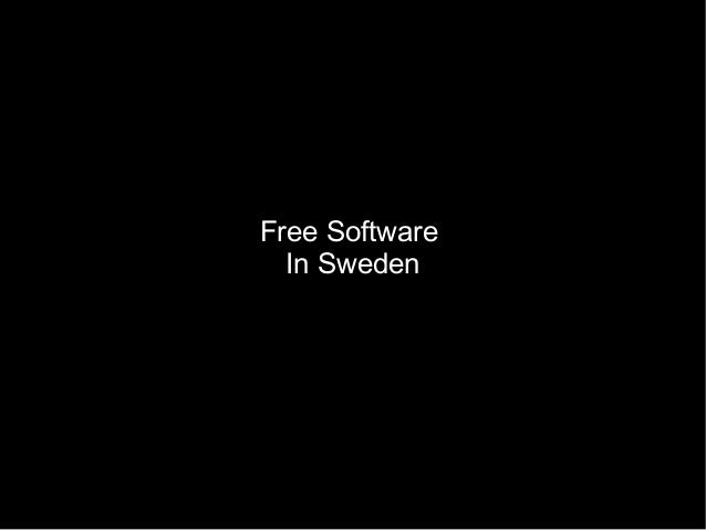 Free Software In Sweden