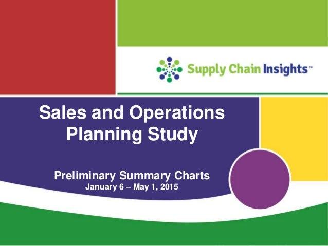 S&OP 2015 Preliminary Summary Charts