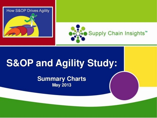 S&OP and Agility Study- Summary Charts - May 2013