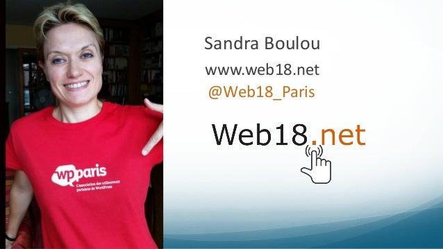 Sandra Boulou @Web18_Paris www.web18.net