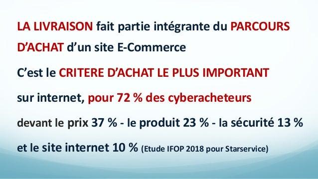 LA LIVRAISON fait partie intégrante du PARCOURS D'ACHAT d'un site E-Commerce C'est le CRITERE D'ACHAT LE PLUS IMPORTANT su...