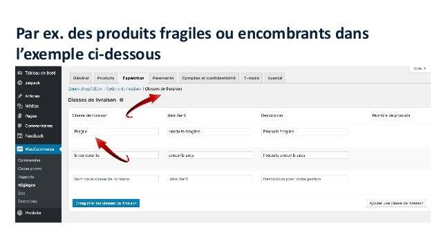 Attribution de la classe livraison dans la fiche produit