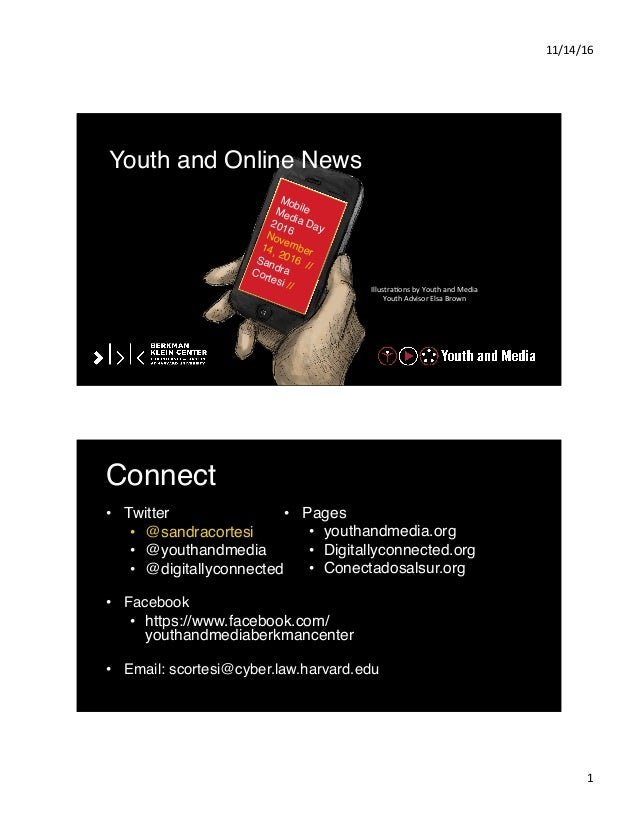 11/14/16   1   Illustra-ons  by  Youth  and  Media     Youth  Advisor  Elsa  Brown   Youth and Onl...