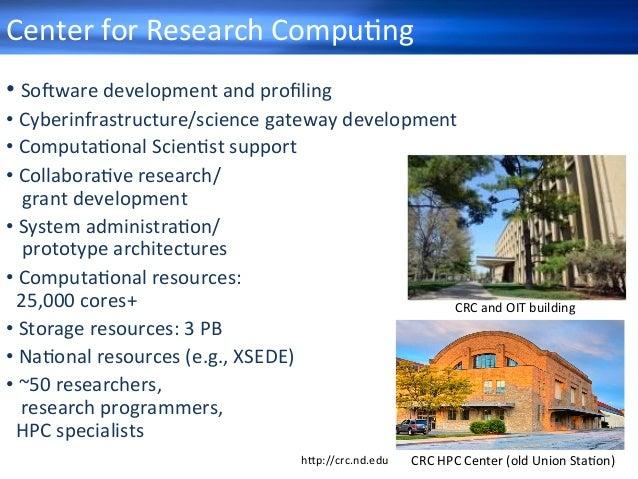 •So+waredevelopmentandprofiling •Cyberinfrastructure/sciencegatewaydevelopment •ComputaHonalScienHstsupport...