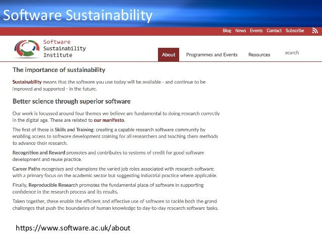 So+wareSustainability h_ps://www.so+ware.ac.uk/about