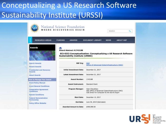 The Conceptualization of URSSI - How You Can Engage Slide 2