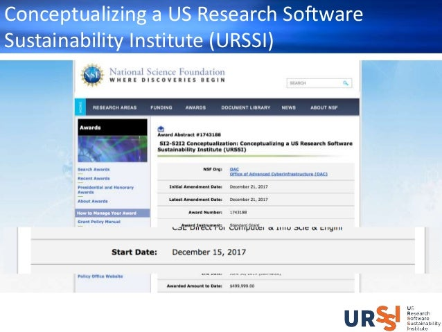 The Conceptualization of URSSI - How You Can Engage Slide 3