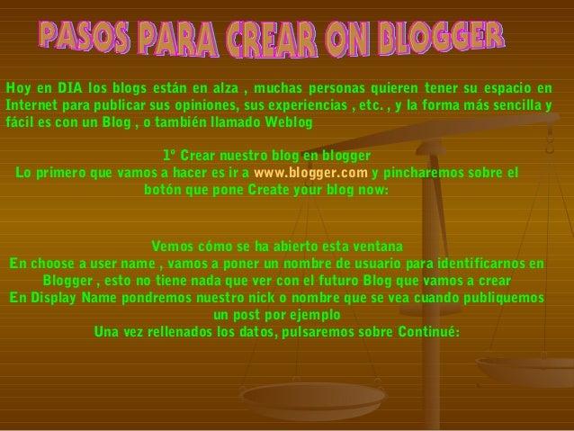 Hoy en DIA los blogs están en alza , muchas personas quieren tener su espacio en Internet para publicar sus opiniones, sus...