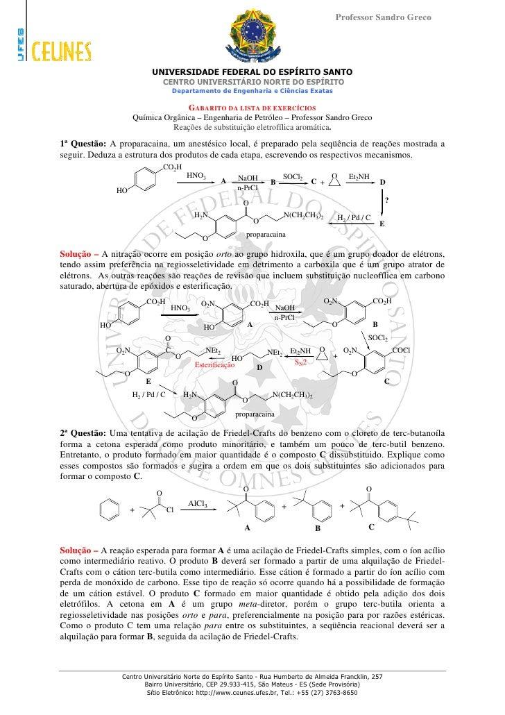 Professor Sandro Greco                                  UNIVERSIDADE FEDERAL DO ESPÍRITO SANTO                            ...