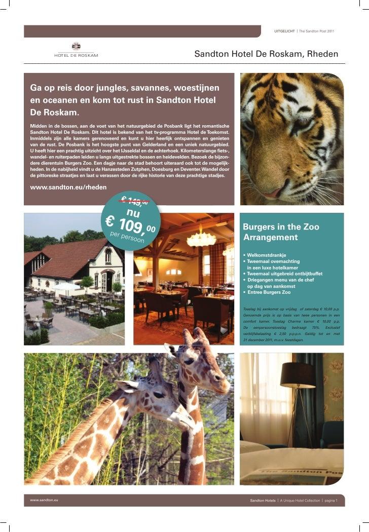 Sandton Hotel De Roskam, Rheden     HOTEL DE ROSKAM                                  1