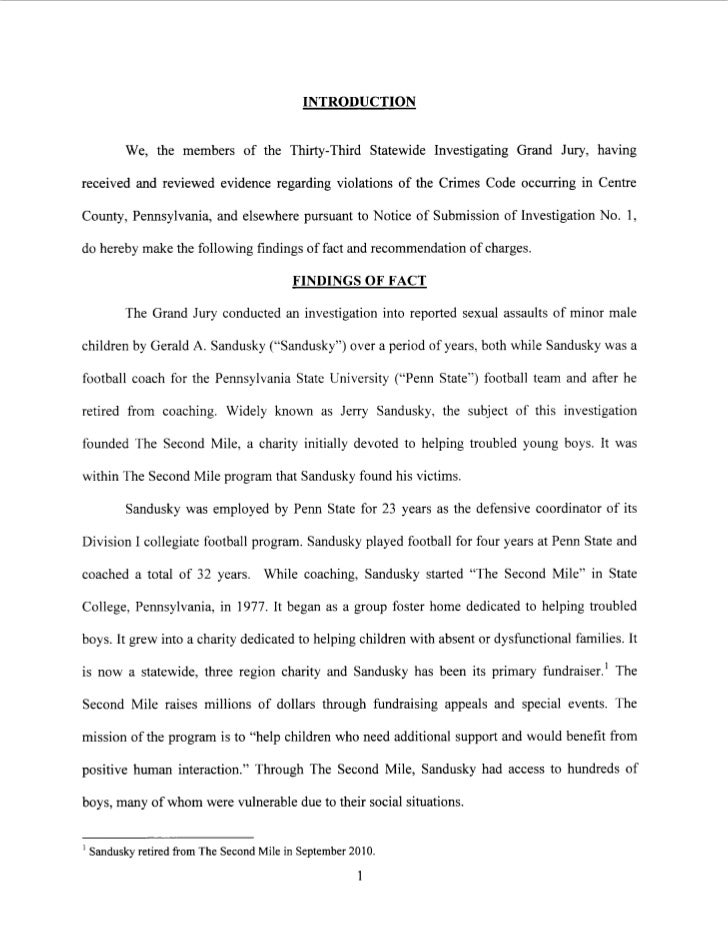 Penn State Sex Crime Grand Jury Testimony