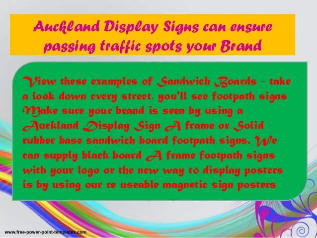 Auckland Display Signs can ensure passing traffic spots your Brand View these examples of Sandwich Boards - take a look do...