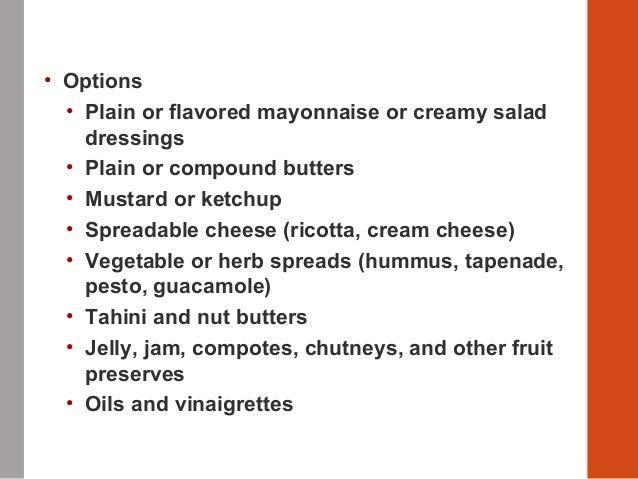Delhindra/chefqtrainer.blogspot.com Sandwich Spreads